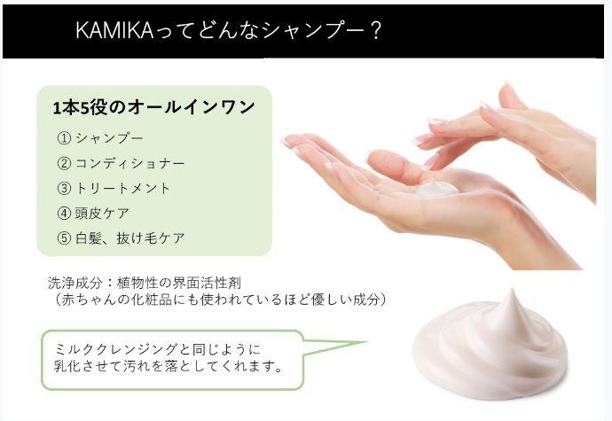 カミカ(KAMIKA)シャンプーの効果説明