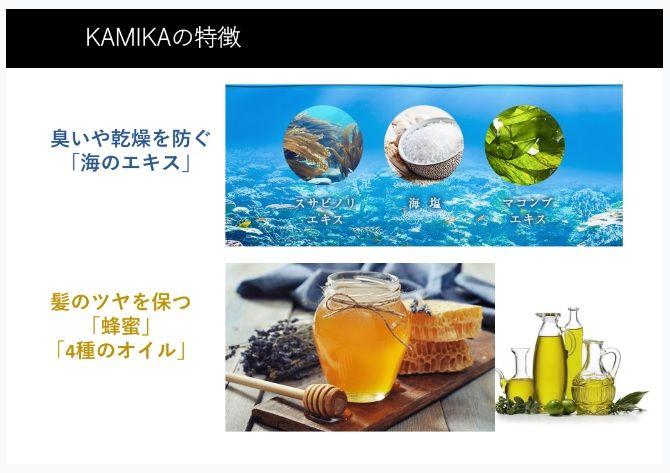 カミカ(KAMIKA)シャンプーの成分